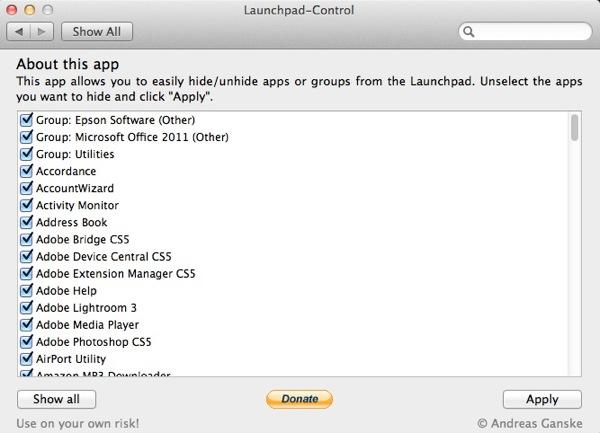 LanchPad Control