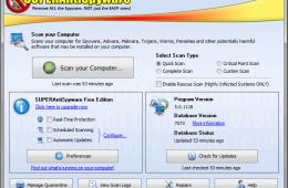 SUPERAntiSpyware 5 screen