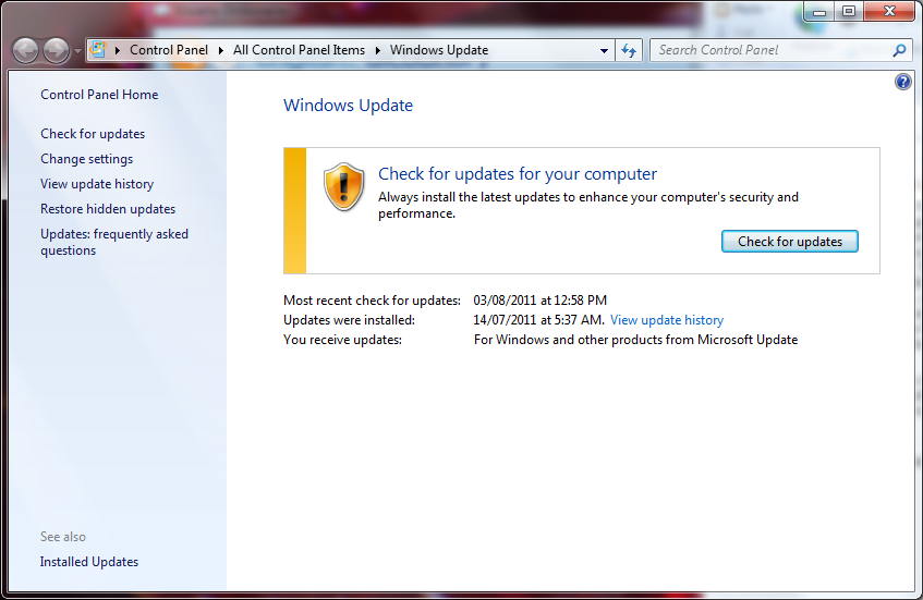 windows 7 latest update