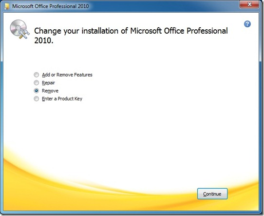 reinstall Office