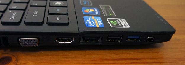Acer Aspire Ethos - left side ports