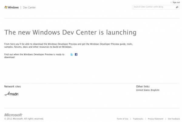 Windows Developers Site