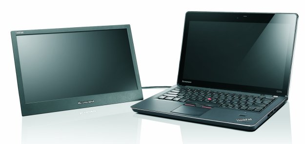 Lenovo ThinkVision LT1421W portable monitor attached to a ThinkPad