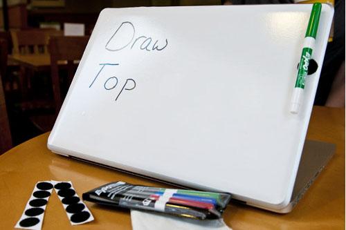 DrawTop Laptop Whiteboard Sticker