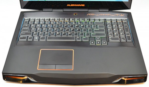 Alienware M17x keyboard and touchpad