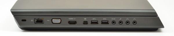 Alienware M17x left ports