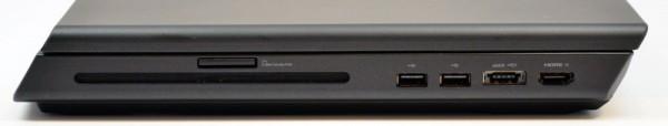 Alienware M17x right ports