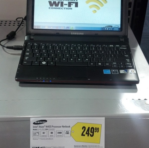This is the price tag on the netbook, note that the extra $50 isn'tmentioned