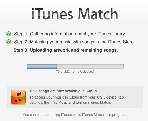 iTunes Music Match Service