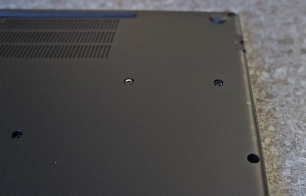 HP Folio 13 bottom closeup of screws