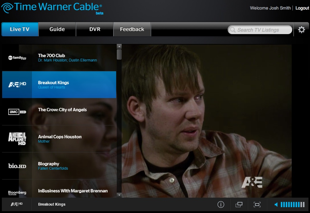 Watch Live Tv On Your Notebook With Time Warner Cable