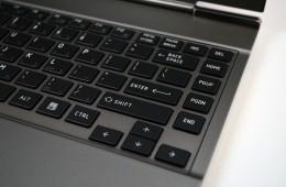 Toshiba Portege z835 keyboard closeup