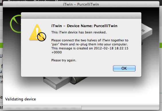 Itwin revoked mac