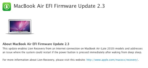 MacBook Air EFI Firmware Update