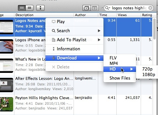 MacTubes Download Menu