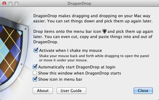 DragonDrop Preferences