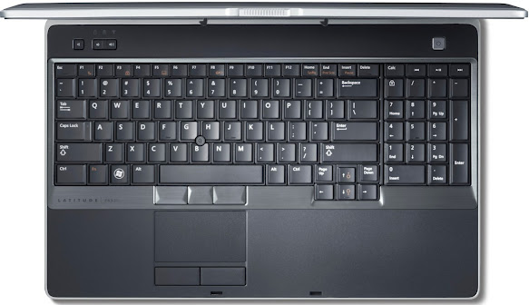 Dell Latitude E6530 notebook - top down view