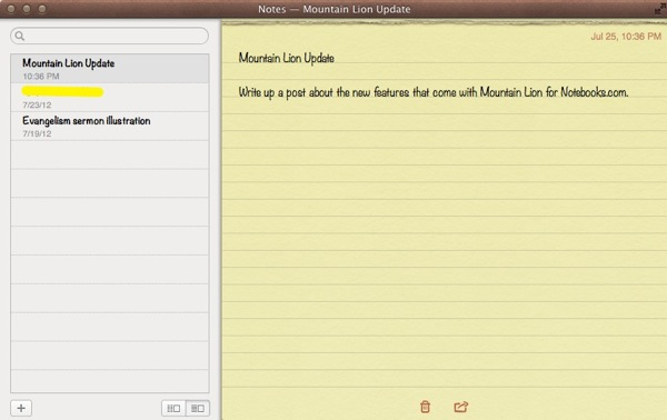 Notes on mountain lion