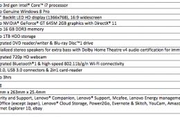 IdeaPad Z500 Specs