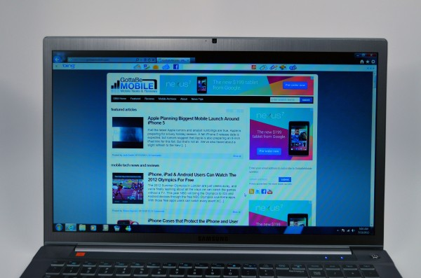 Samsung Series 7 Chronos 17.3 Review -  display