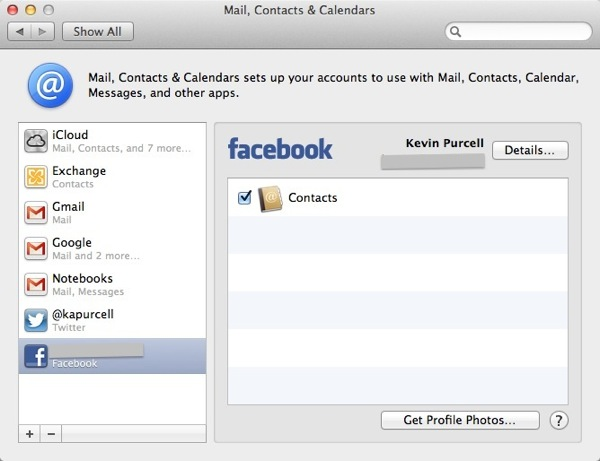 Osx fb accounts