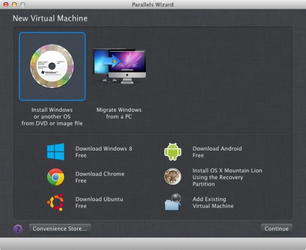 setting up a new virtual machine