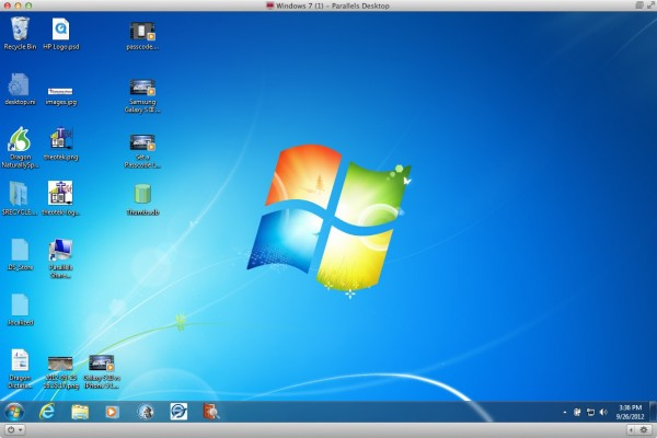 parallels running windows 7
