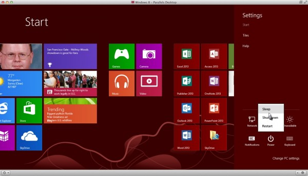 windows 8 on parallels