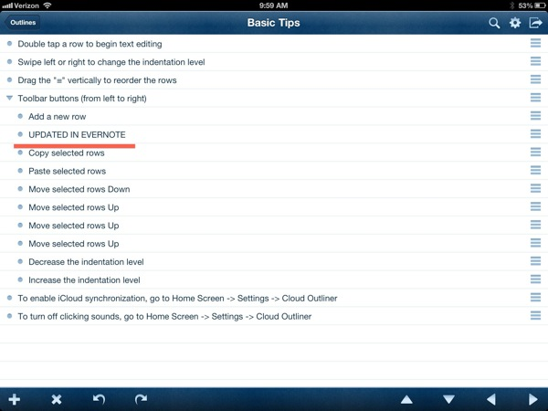 Edits show in cloud outliner