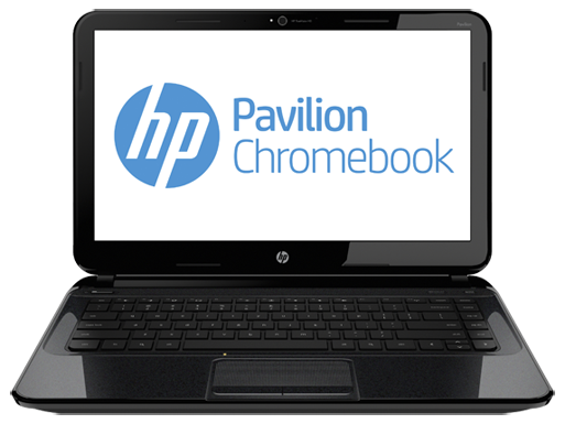 HP Chromebook front