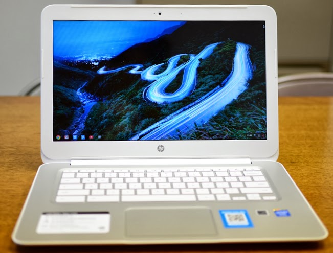 hp chromebook 14 front open