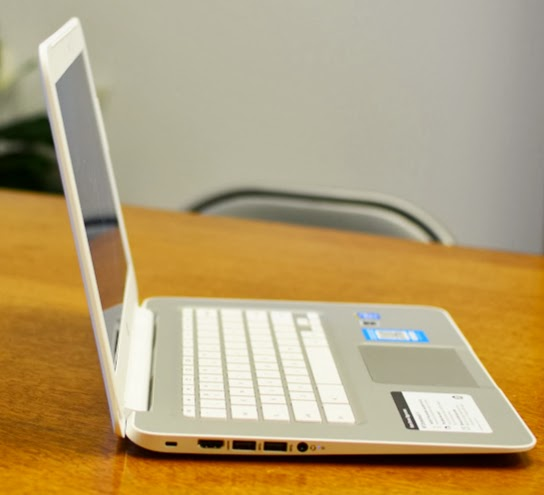 hp chromebook 14 side-view