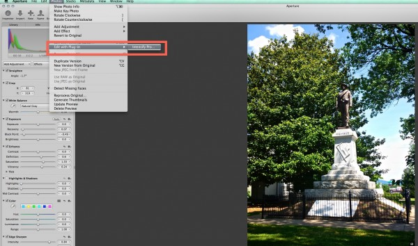 intensify aperture plugin