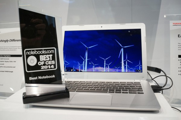 After using the Toshiba Chromebook for a while I doubt we'd give the notebook our Best Notebook of CES 2014 award.