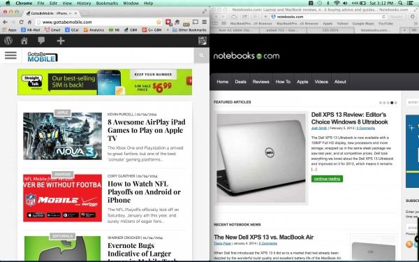 Snap windows in OS X Mavericks with HyperDock.
