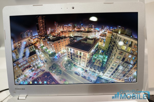The Toshiba 13's 13.3-inch display looks nice, but users may not appreciate the large bezel.