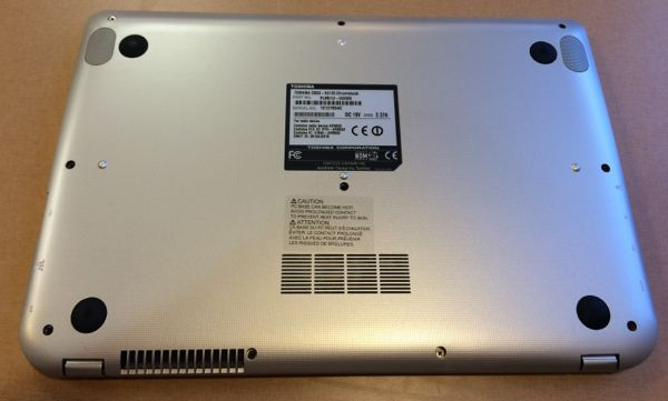 the bottom of the Toshiba Chromebook