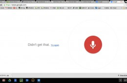 ok google voice search page
