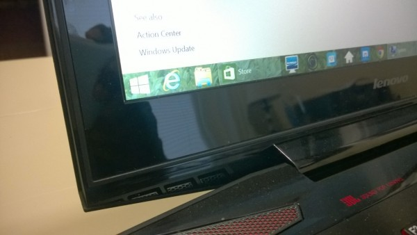 Don't let this clean taskbar fool you, there are tons of included apps and extra lurking on the Lenovo Y40.