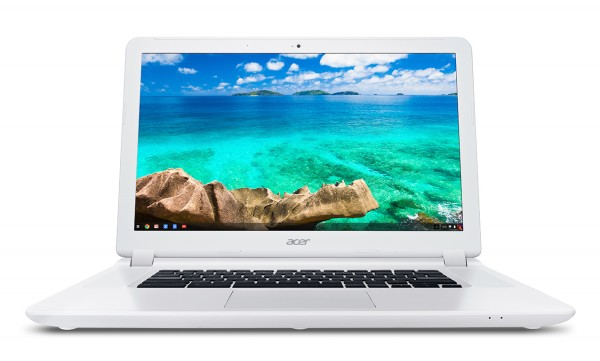 Acer Chromebook 15 (CB5-571) white-front SO