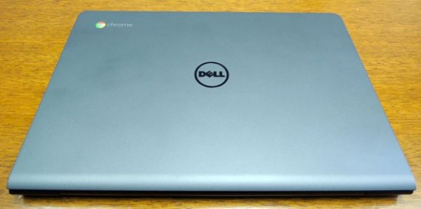 dell chromebook 11 with intel core i3 processor top view