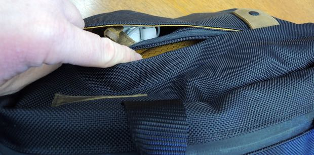 waterfield designs bolt briefcase side pockets with magnet clasp