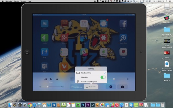 reflector airplay mirroring on os x yosemite