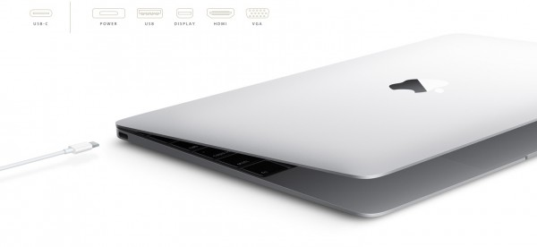 new USB-C connector on new MacBook