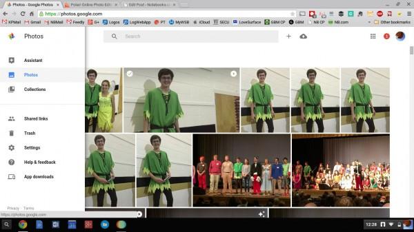google photos web app