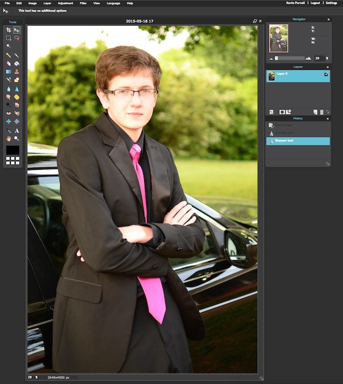 pixlr editor user interface