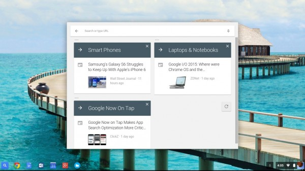 Google ChromeOS Launcher Google Now Cards