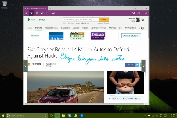 microsft edge browser in windows 10