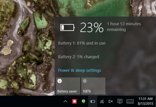 Lenovo T450s battery life indicator