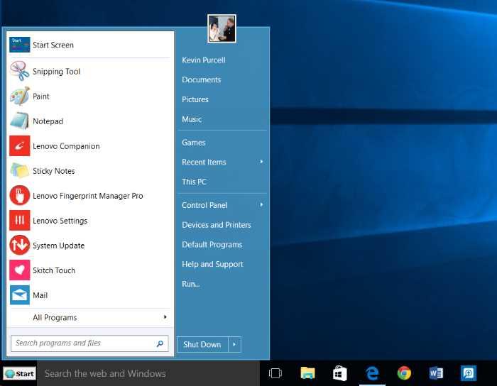 Windows 10 Start Menu: How to Make it Look Like Windows 7